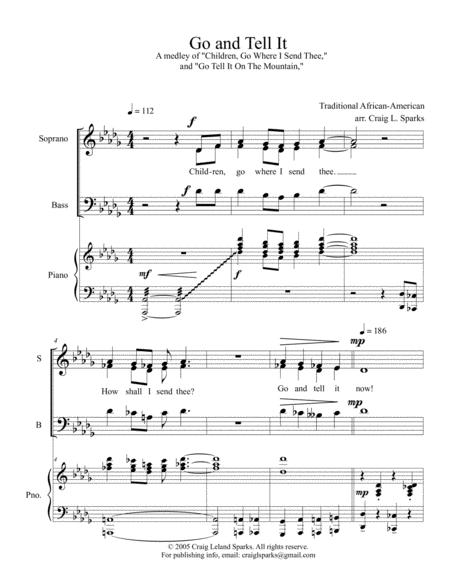 Go and Tell It (SATB)