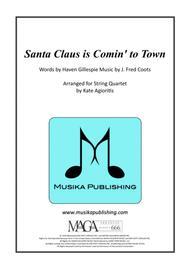 Santa Claus Is Comin' To Town - Jazz Arrangement for String Quartet