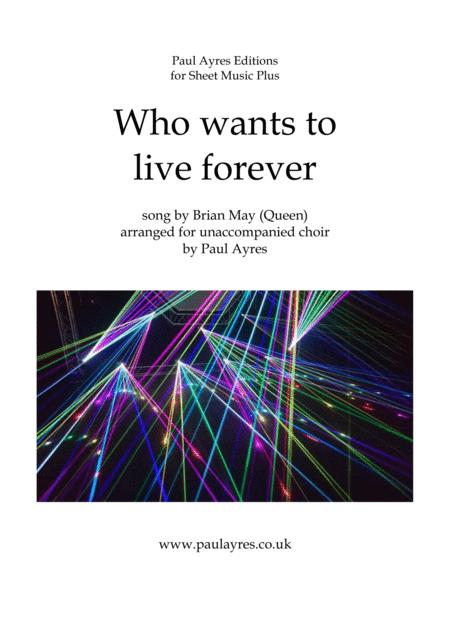 Download Who Wants To Live Forever, Arranged For