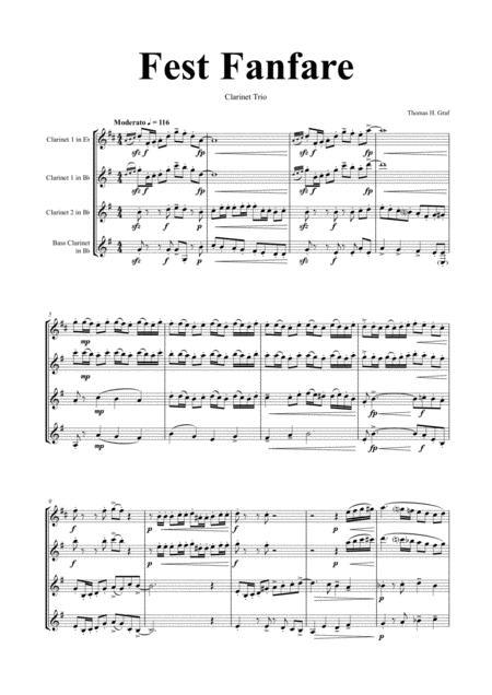 Fest Fanfare - Classical Festive Fanfare - Opener - Clarinet Trio