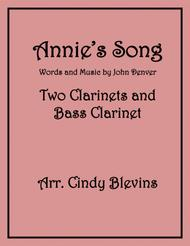 Annie's Song, for Two Clarinets and Bass Clarinet