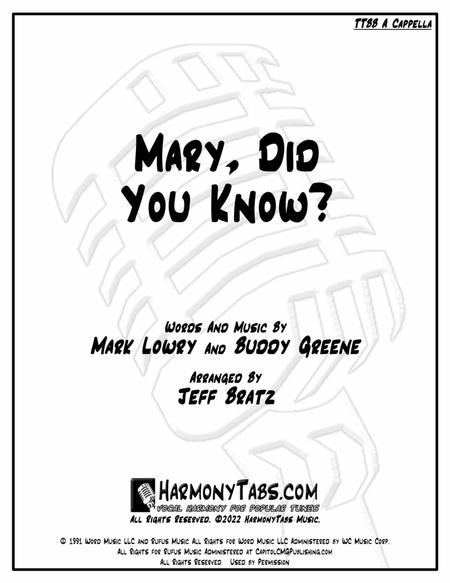 Mary, Did You Know? (TTBB A Cappella)