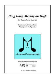 Ding Dong Merrily on High - for Saxophone Quartet