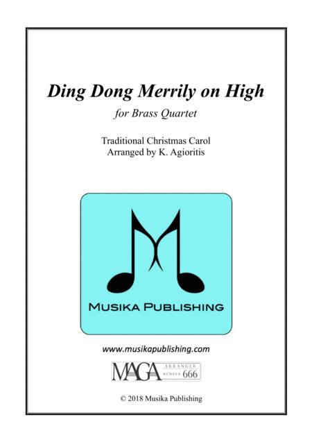 Ding Dong Merrily on High - for Brass Quartet