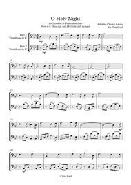O Holy Night. Trombone Duet (Also Euphonium)