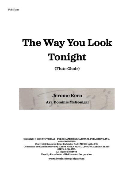 The Way You Look Tonight (Flute Quartet)