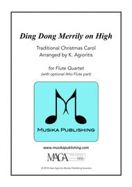 Ding Dong Merrily on High - for Flute Quartet