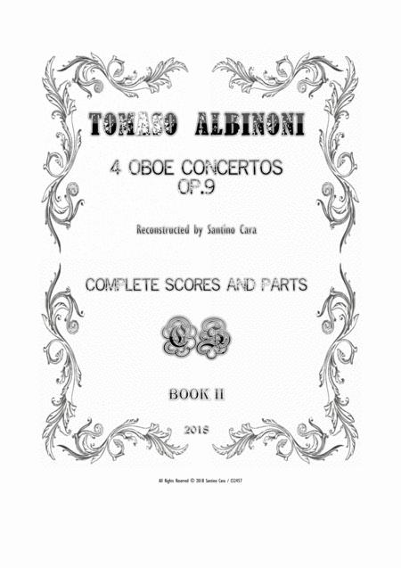 Albinoni - Four Oboe Concertos Op.9 for Oboe, Strings and Cembalo - Scores and Parts