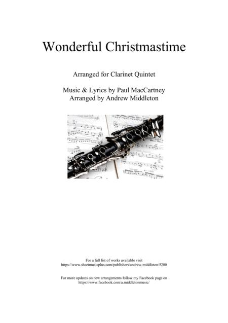 Wonderful Christmastime for Clarinet Quintet