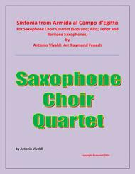 Sinfonia from Armida al Campo D'Egitto -  Saxophone Choir Qaurtet (Soprano; Alto; Tenor and Baritone Saxophones) - Early Advanced