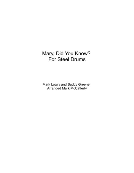 Mary, Did You Know? For Steel Drums