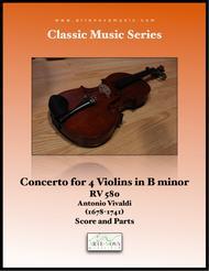 Concerto for 4 Violins in B minor, RV 580