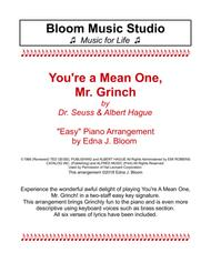 You're A Mean One, Mr. Grinch - Easy Piano