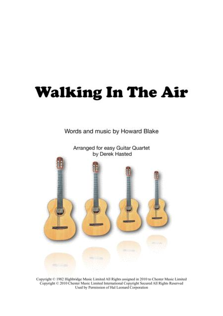 Walking In The Air for easy Guitar Quartet