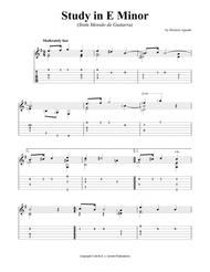 Study in E Minor (from Metodo de Guitarra)