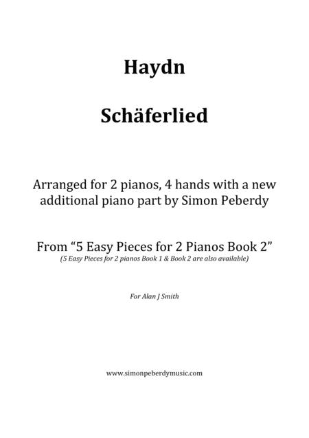Schäferlied by Haydn for 2 pianos (additional piano part by Simon Peberdy). Easy music for 2 pianos
