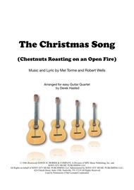 The Christmas Song (Chestnuts Roasting) - easy Guitar quartet