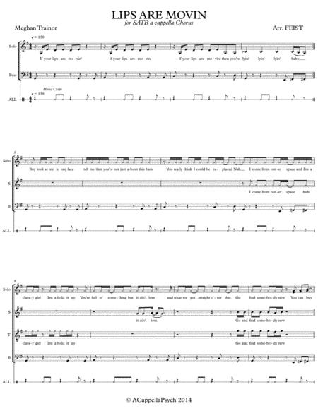 Lips Are Movin'(A Cappella SATB)