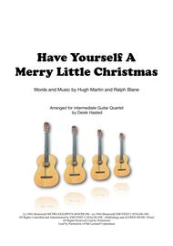 Have Yourself A Merry Little Christmas for guitar quartet