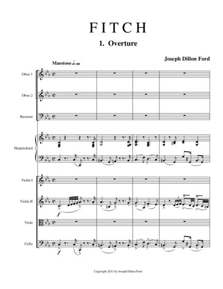 Fitch Overture for chamber orchestra