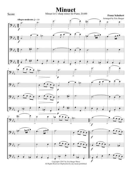 Minuet for Trombone or Low Brass Quartet