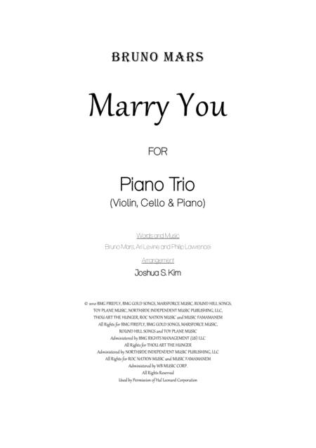 Marry You for Piano Trio