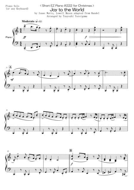 < Short EZ Piano #222 for Christmas > Joy to the World