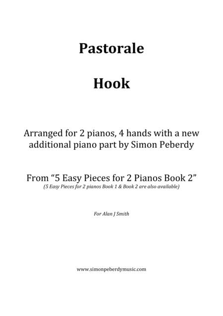 Pastorale by Hook for 2 pianos (additional piano part by Simon Peberdy). Easy music for 2 pianos.