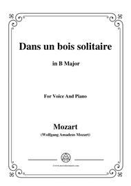 Mozart-Dans un bois solitaire,in B Major,for Voice and Piano