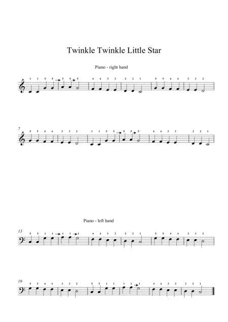 Twinkle Twinkle Little Star Easy Piano