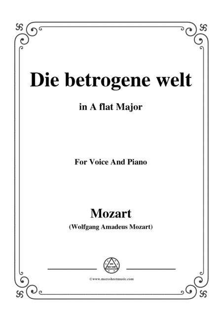 Mozart-Die betrogene welt,in A flat Major,for Voice and Piano