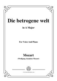 Mozart-Die betrogene welt,in A Major,for Voice and Piano