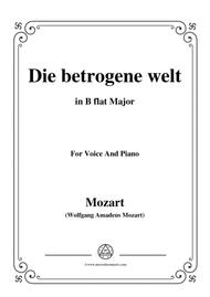 Mozart-Die betrogene welt,in B flat Major,for Voice and Piano