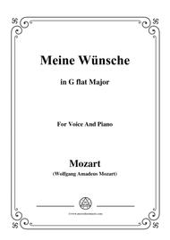 Mozart-Meine wünsche,in G flat Major,for Voice and Piano