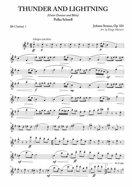 Thunder and Lightning for Clarinet Quartet