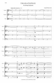 Thanatopsis (Contemplation of Death) for string orchestra or string quartet