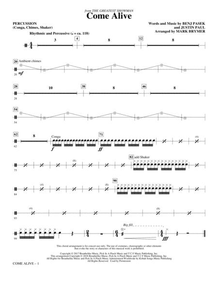 Come Alive (from The Greatest Showman) (Arr. Mark Brymer) - Percussion