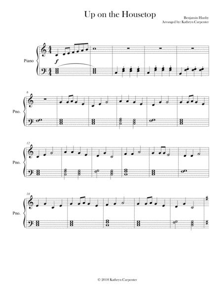 Up on the Housetop (Piano, Level 1 or 2A)
