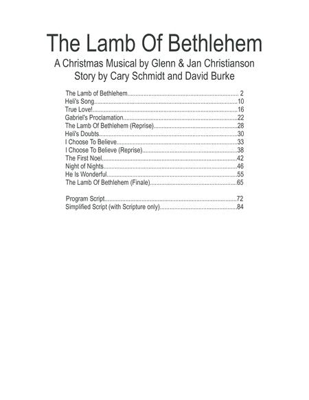 The Lamb Of Bethlehem - Christmas Cantata