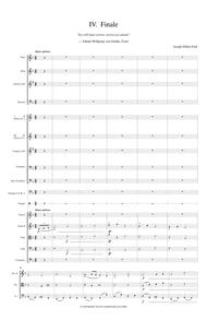 Symphony in F In Memoriam Johann Wolfgang von Goethe for orchestra - 4th movement