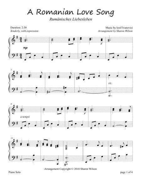 A Romanian Love Song (Rumänisches Liebesleben for Piano Solo)