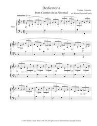 Dedicatoria by Enrique Granados for Solo Harp