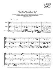 Say You Won't Let Go - String Trio (2 Violins & Cello) - James Arthur arr. Cellobat