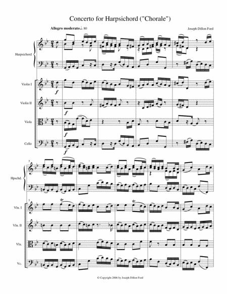 Harpsichord Concerto (for harpsichord and string quartet or harpsichord and string orchestra)