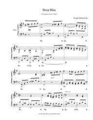 Deep Blue for piano solo