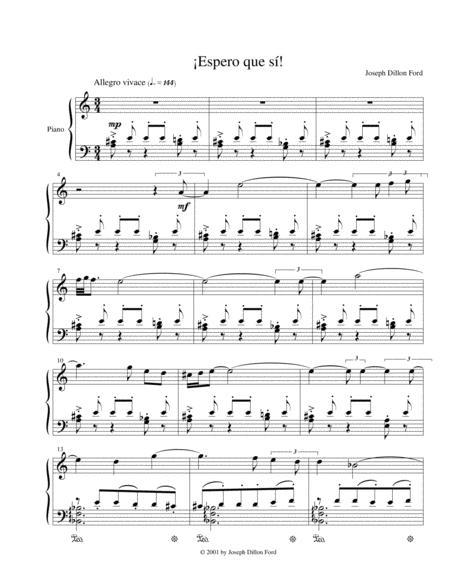 ¡Espero que si! for piano solo