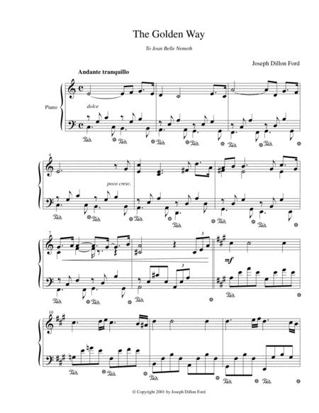The Golden Way for piano solo