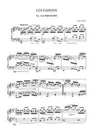 Isaac Albéniz - Les saisons, for piano, Op.201