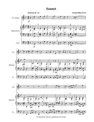 Sonnet for cor anglais, harpsichord and cello