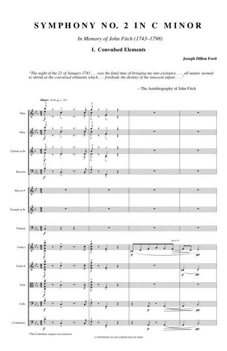 Symphony in C MINOR - The Fitch Symphony - 1st movement (Allegro agitato)